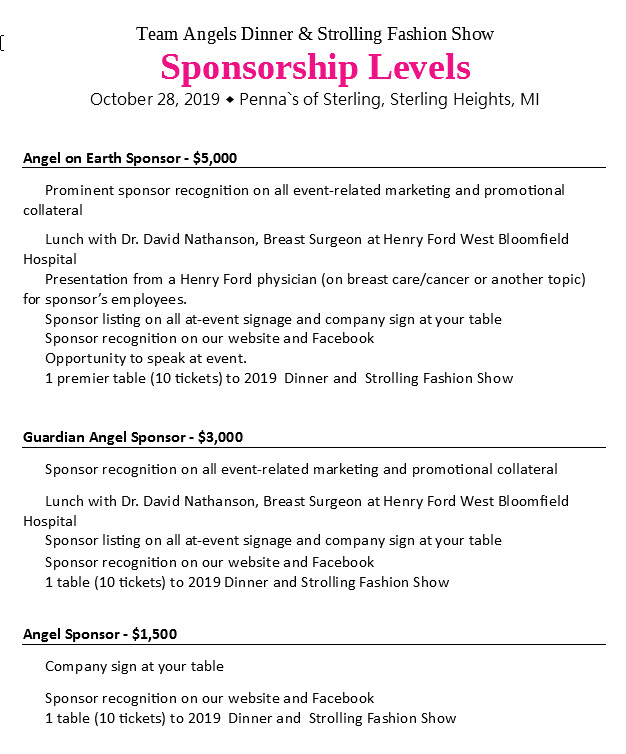 Team Angels Foundation | Dedicated to promoting Breast